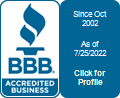 We Care's BBB badge for 2016